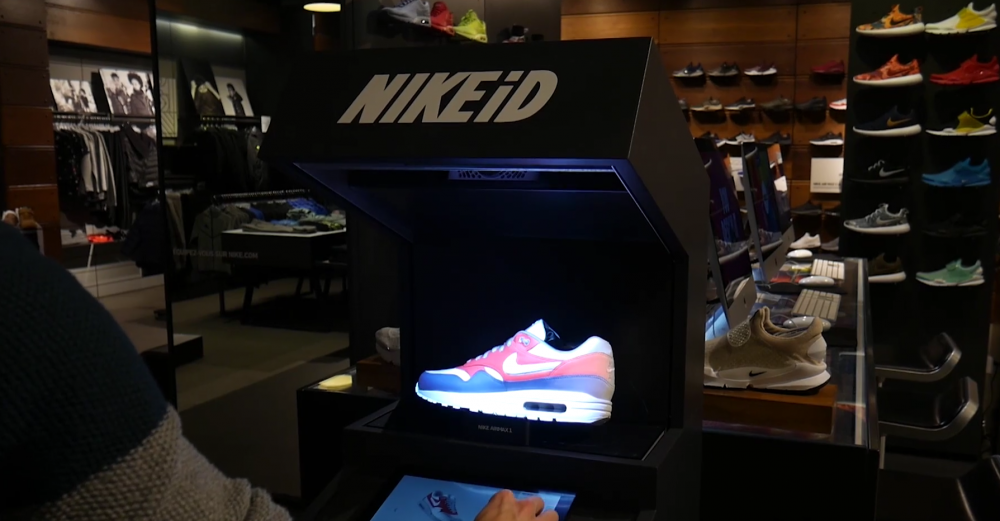 Nike anvender augmented reality